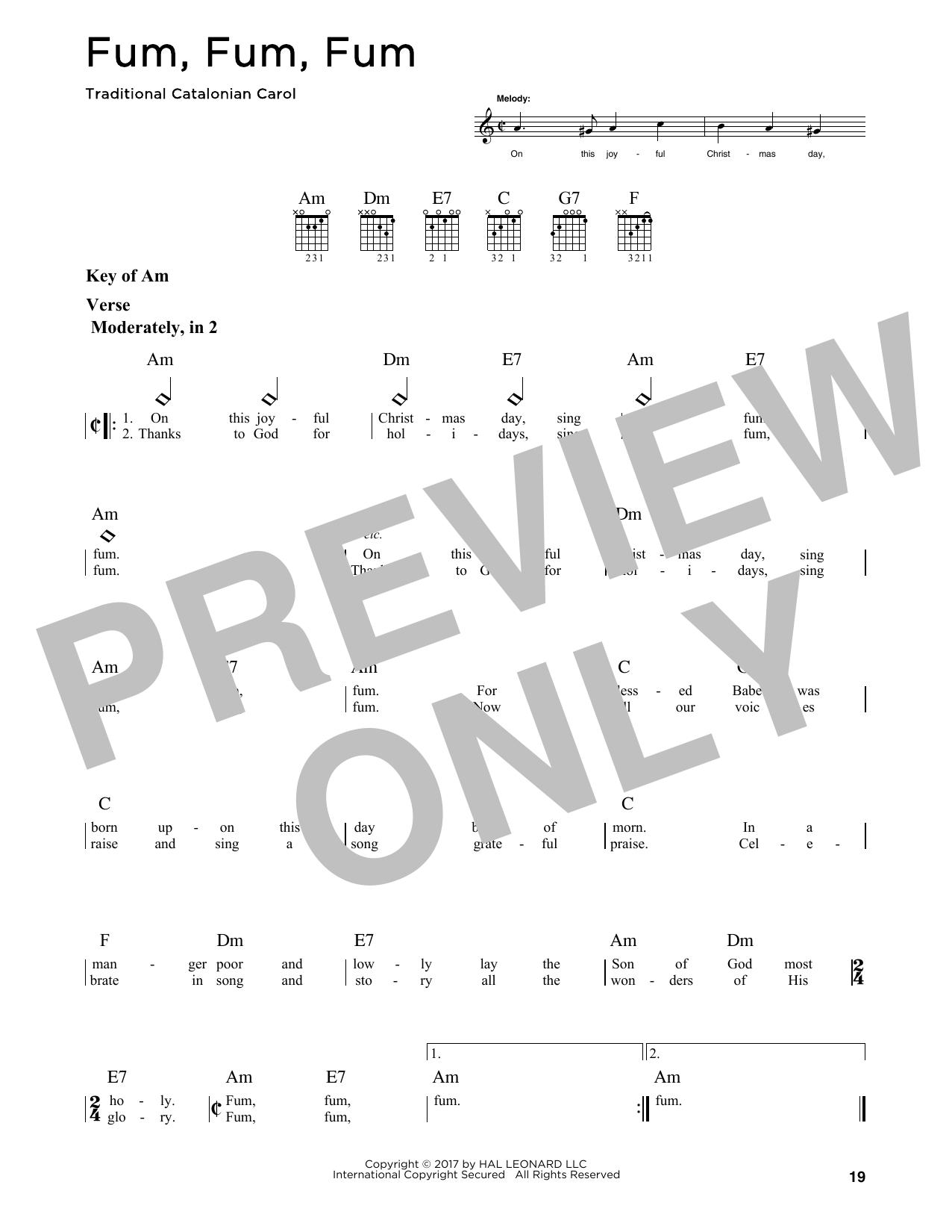 Fum, Fum, Fum (Guitar Lead Sheet)