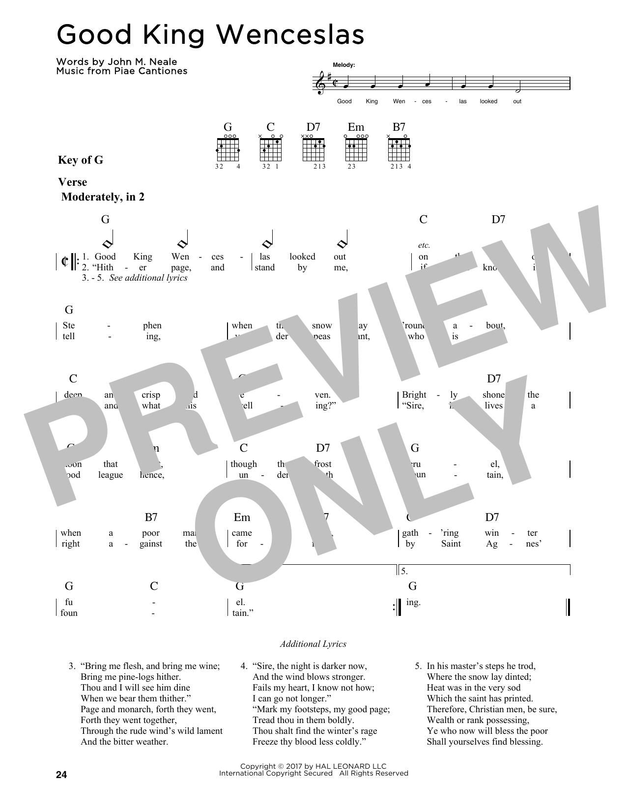 Good King Wenceslas (Guitar Lead Sheet)