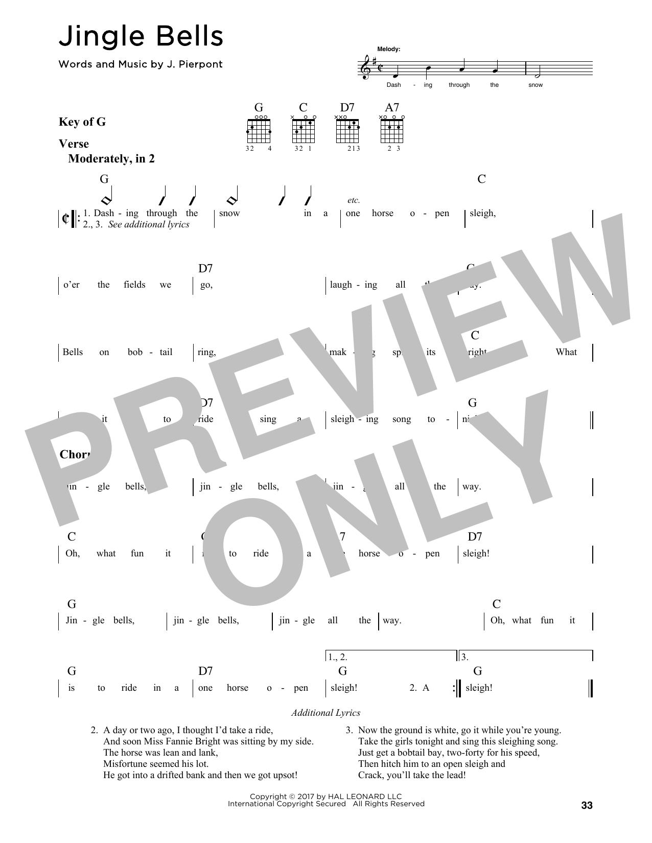 Jingle Bells (Guitar Lead Sheet)