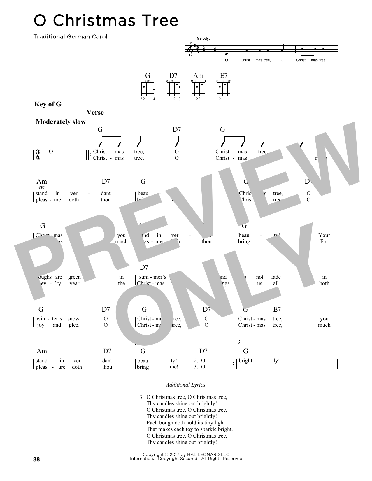 O Christmas Tree Sheet Music | Traditional German Carol | Guitar ...