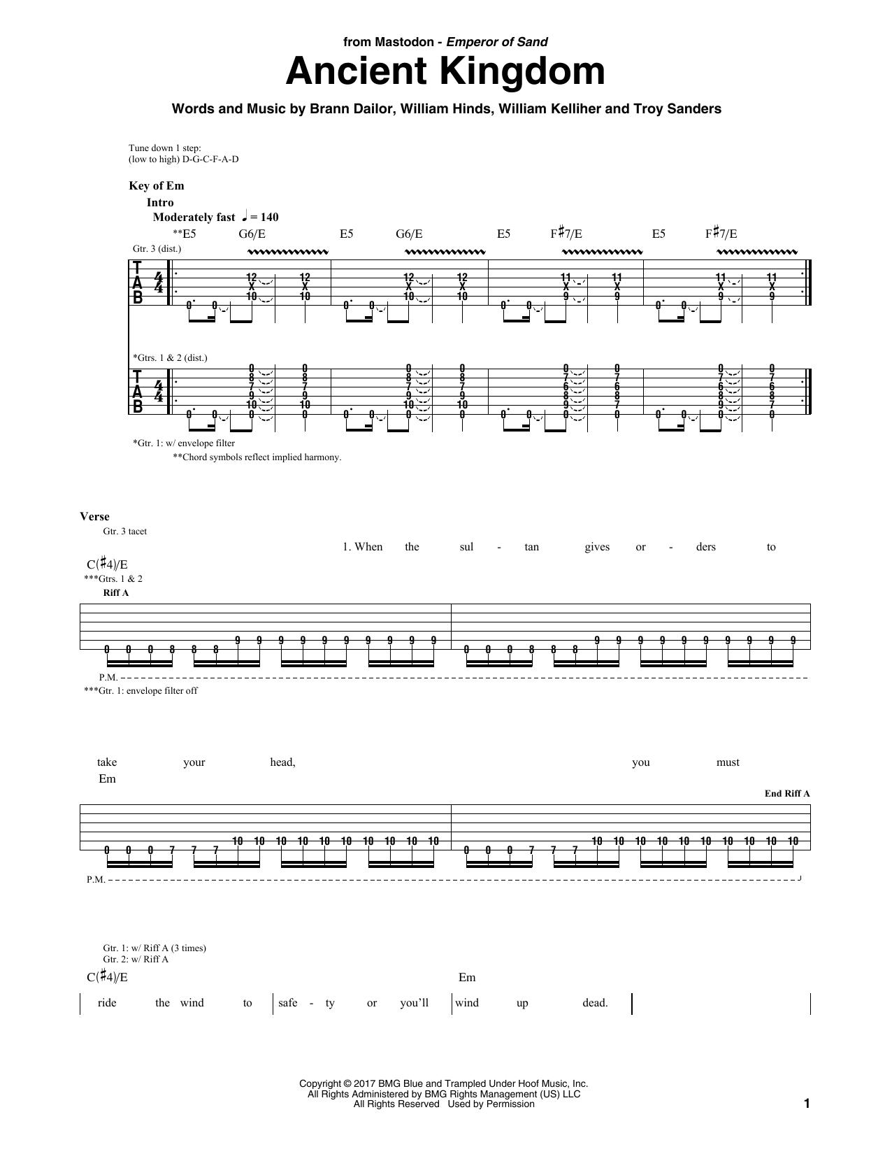 Ancient Kingdom Sheet Music