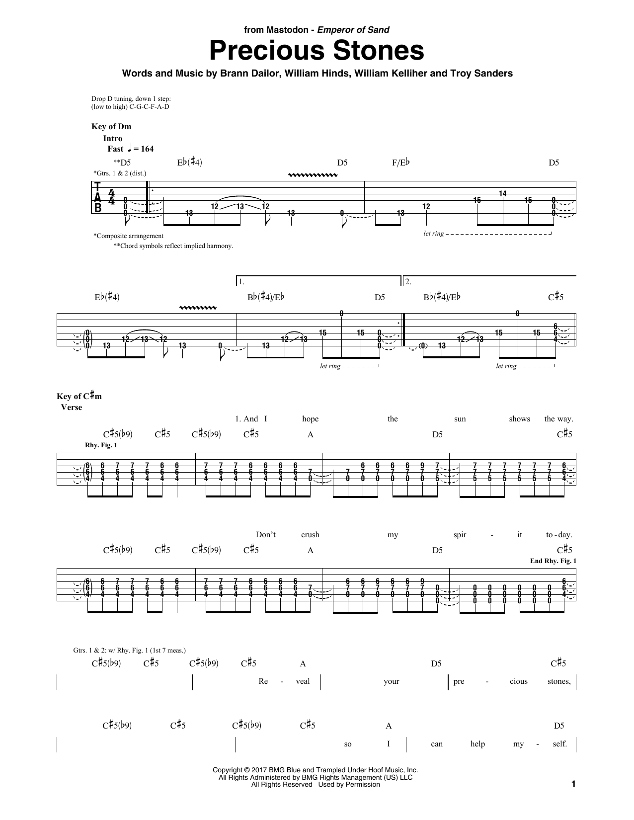 Precious Stones (Guitar Tab)