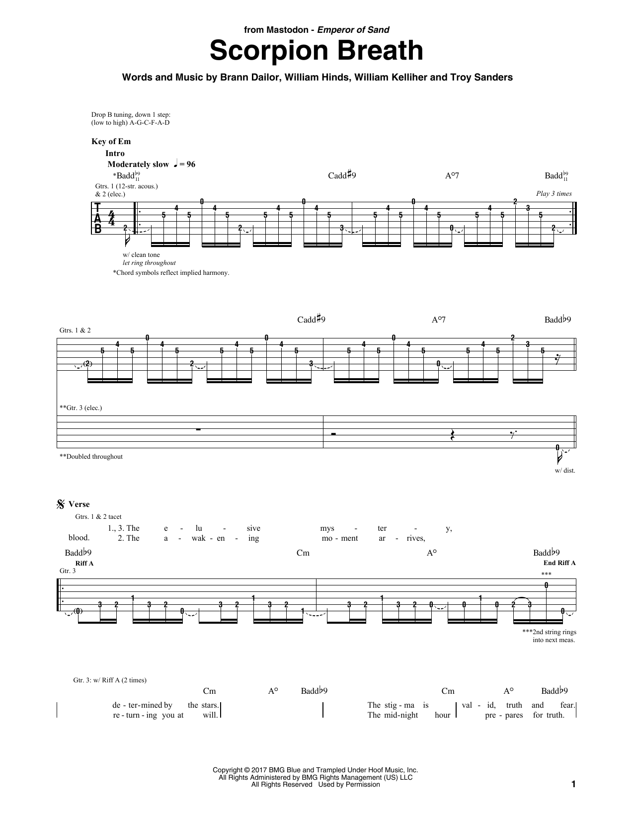 Scorpion Breath (Guitar Rhythm Tab)