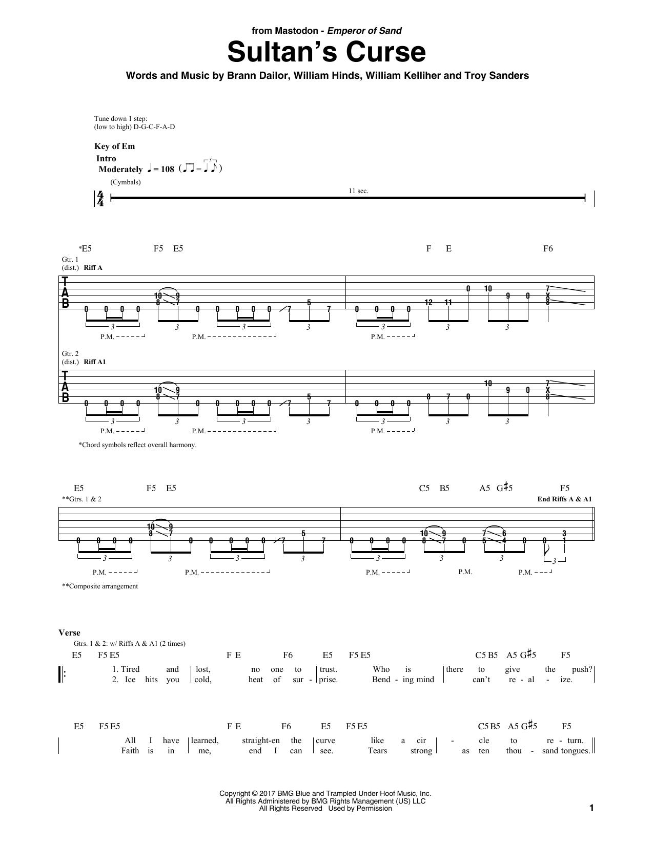 Sultan's Curse (Guitar Tab)