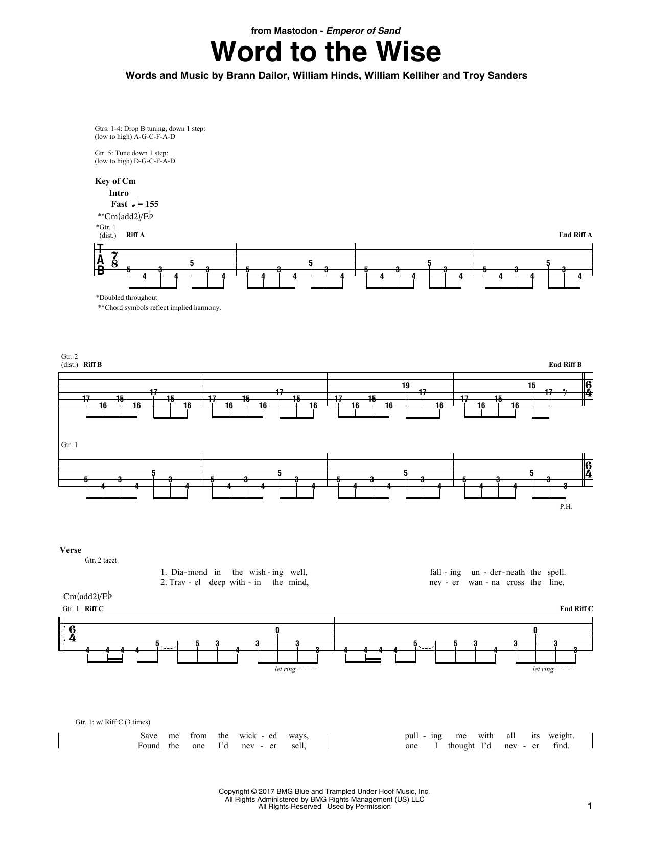 Word To The Wise (Guitar Tab)