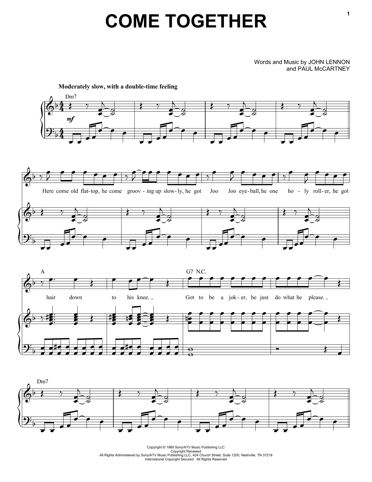 Come Together (Piano & Vocal)