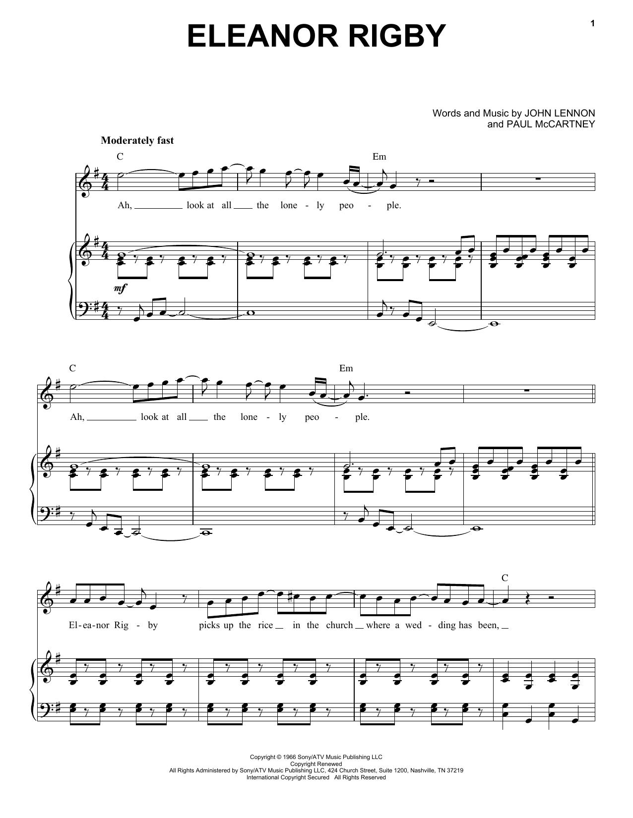 Eleanor Rigby (Piano & Vocal)