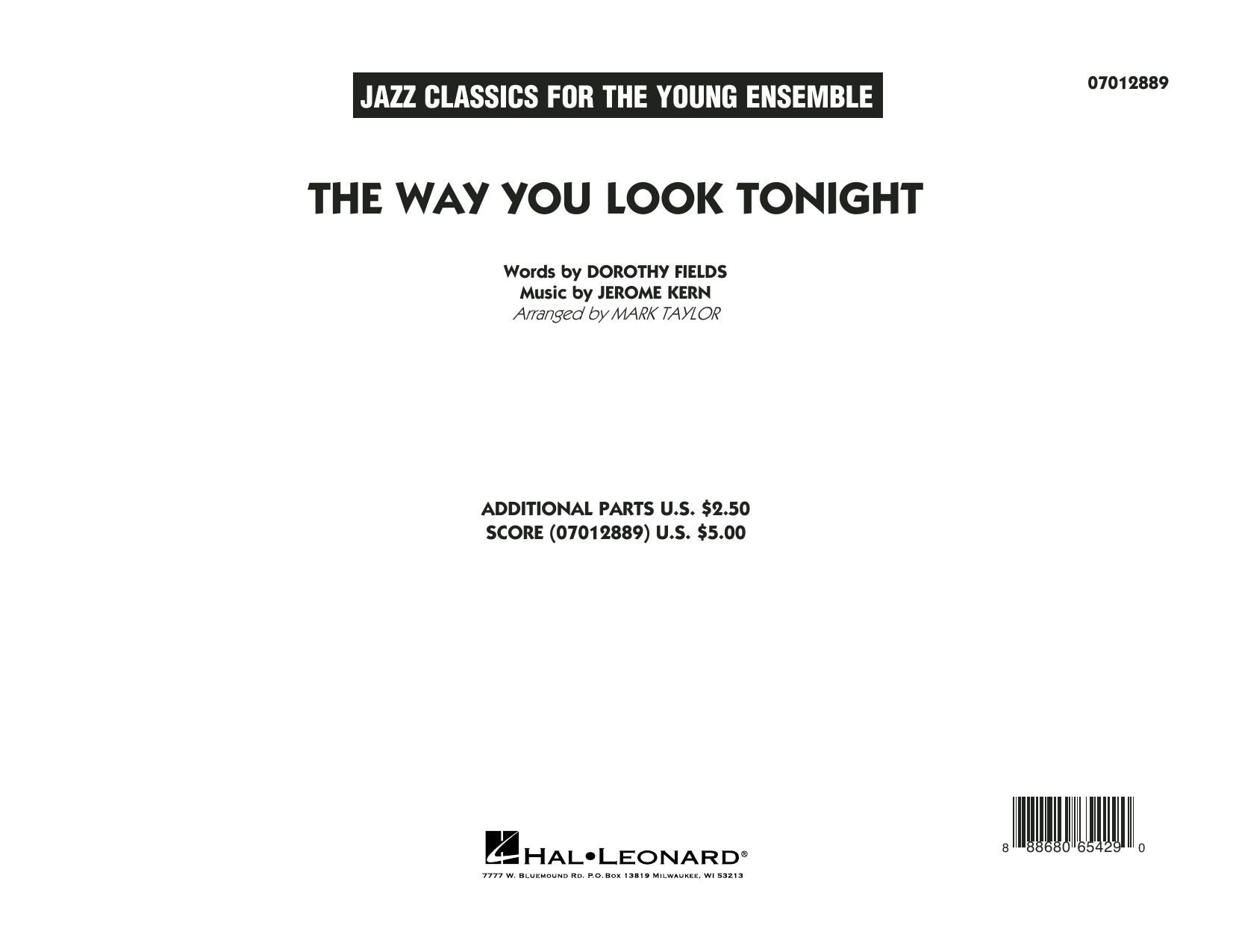 The Way You Look Tonight (COMPLETE) sheet music for jazz band by Mark Taylor, Dorothy Fields and Jerome Kern. Score Image Preview.