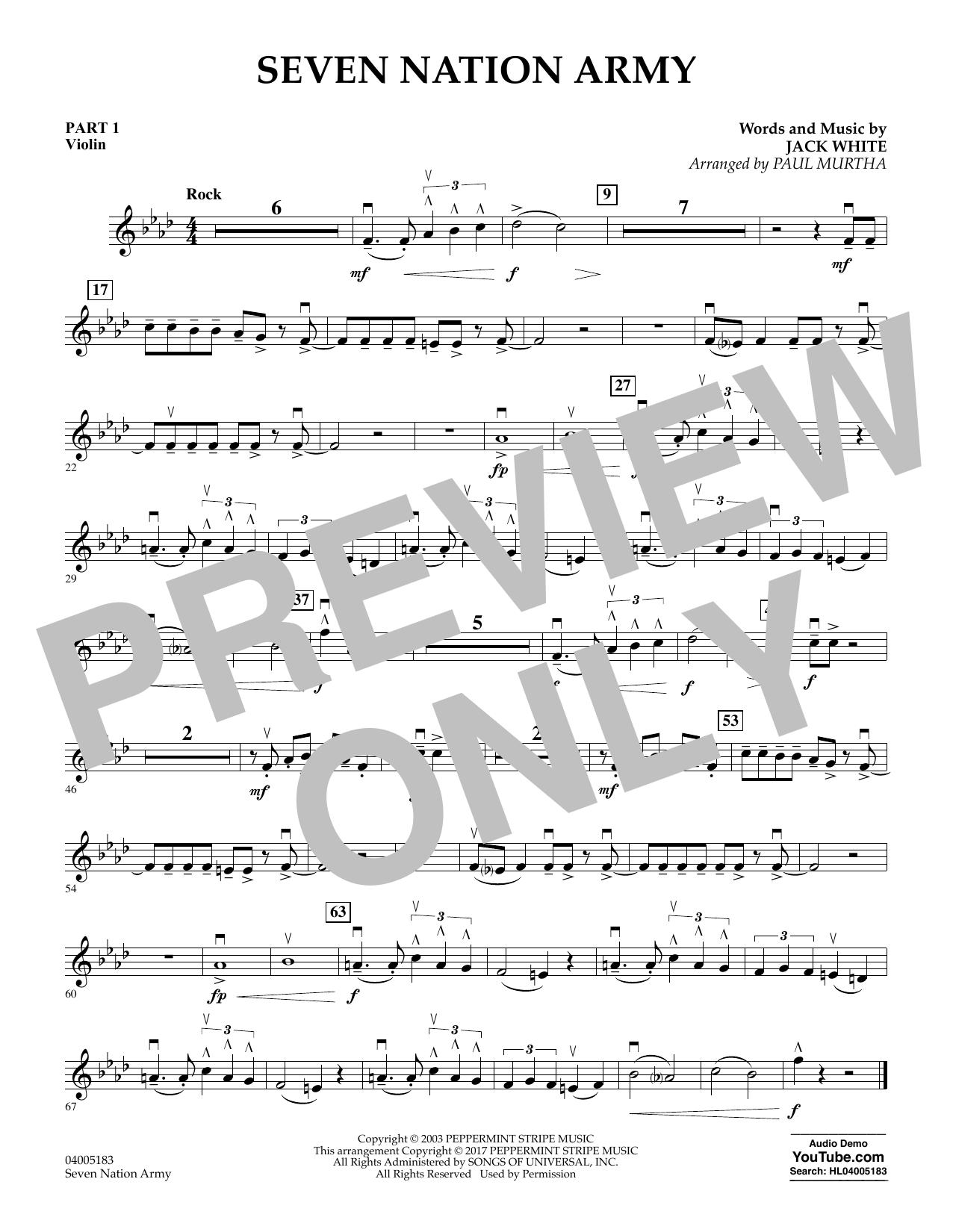 Seven Nation Army - Pt.1 - Violin (Flex-Band)