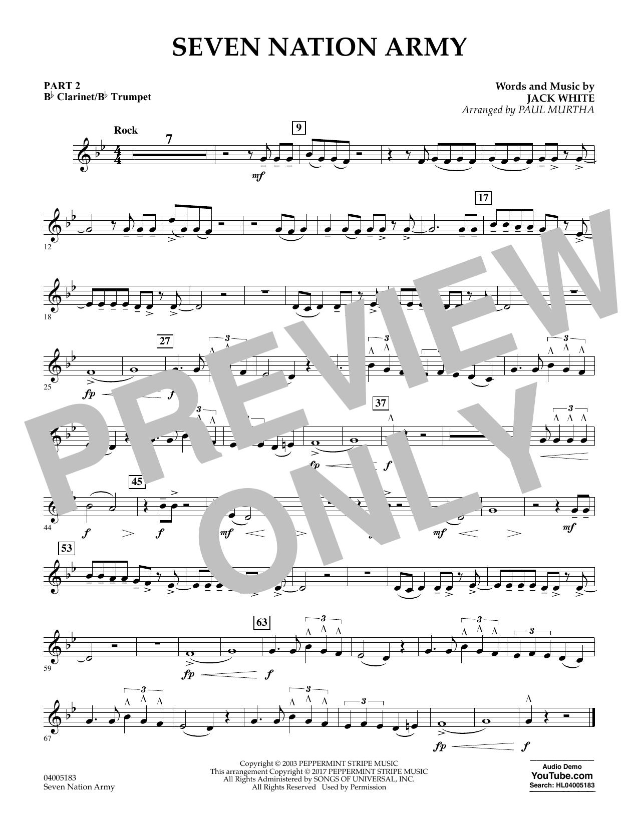 Seven Nation Army - Pt.2 - Bb Clarinet/Bb Trumpet (Concert Band: Flex-Band)