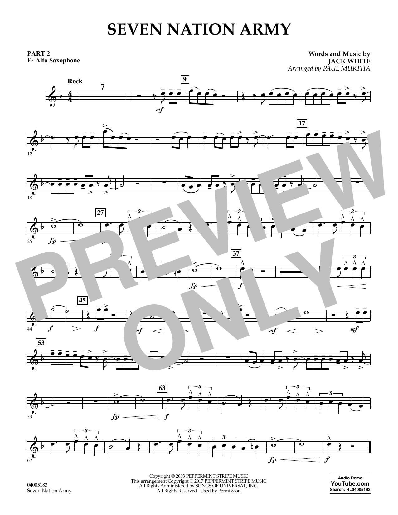 Seven Nation Army - Pt.2 - Eb Alto Saxophone (Flex-Band)