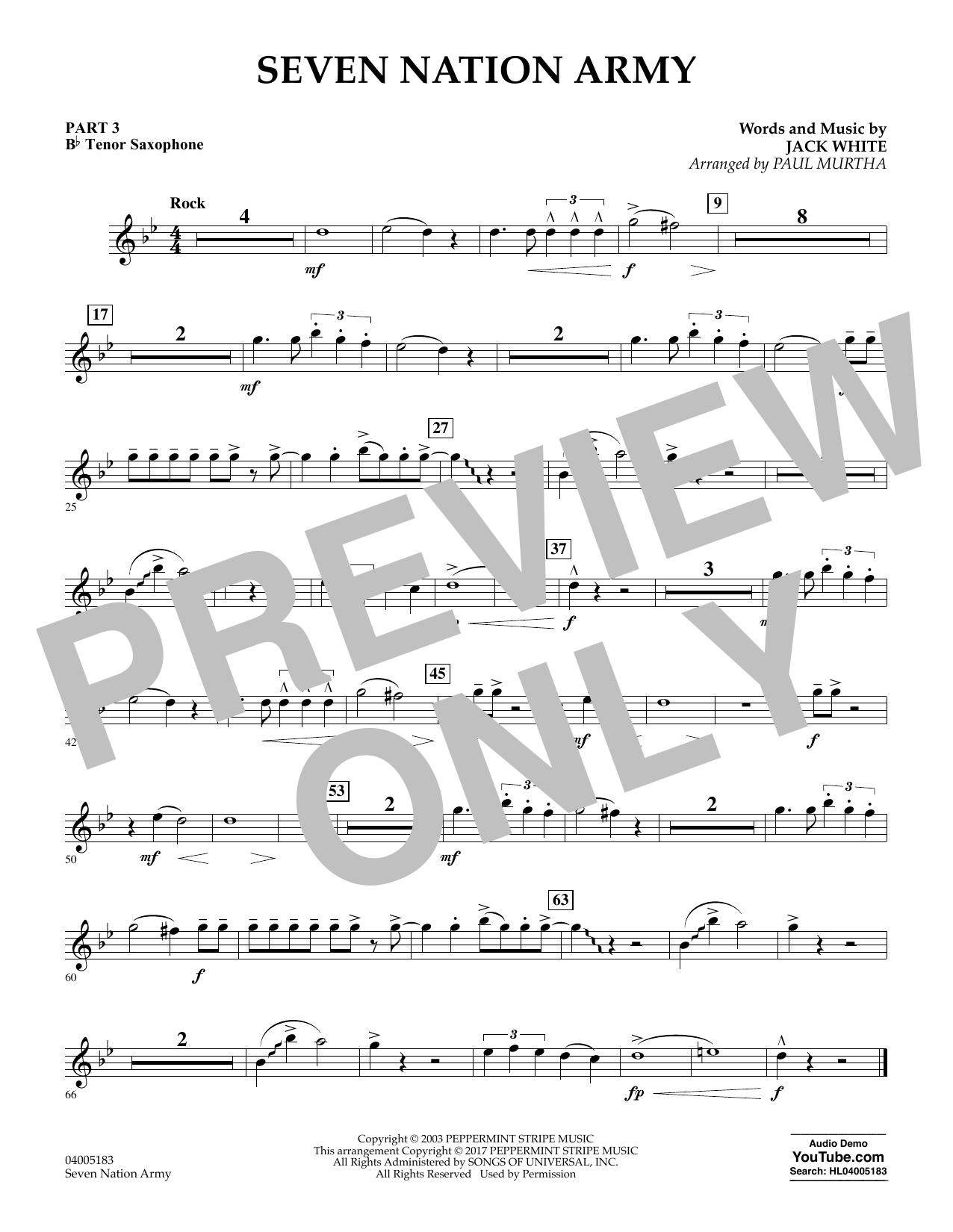 Seven Nation Army - Pt.3 - Bb Tenor Saxophone (Flex-Band)