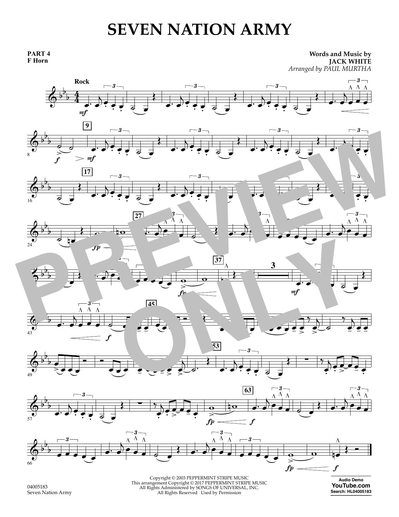 Seven Nation Army - Pt.4 - F Horn (Flex-Band)