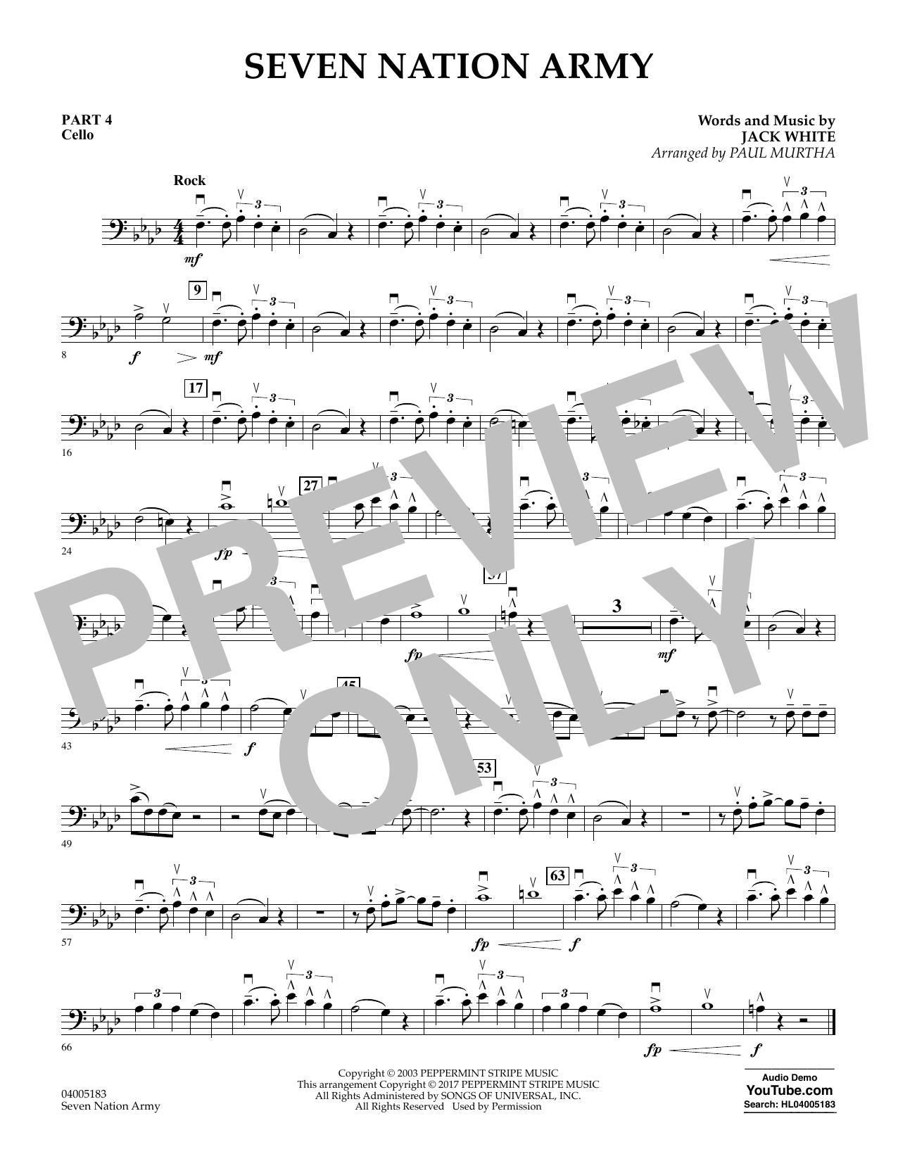 Seven Nation Army - Pt.4 - Cello (Flex-Band)