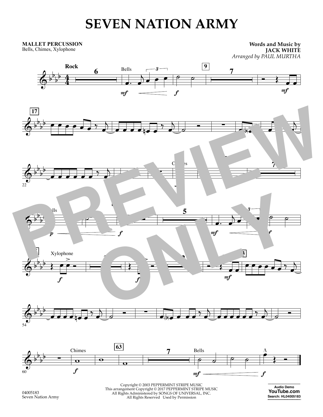 Seven Nation Army Mallet Percussion At Stantons Sheet Music