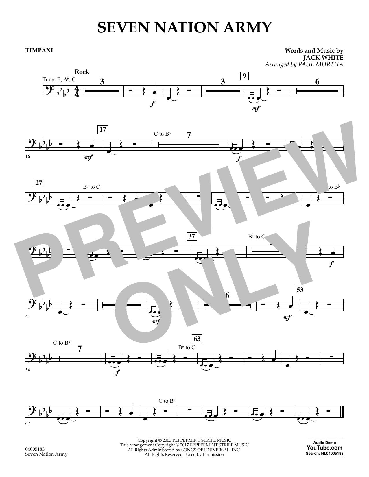 Seven Nation Army - Timpani (Flex-Band)