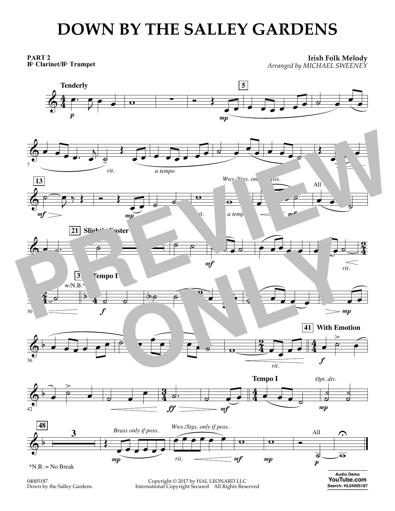 Down by the Salley Gardens - Pt.2 - Bb Clarinet/Bb Trumpet (Flex-Band)