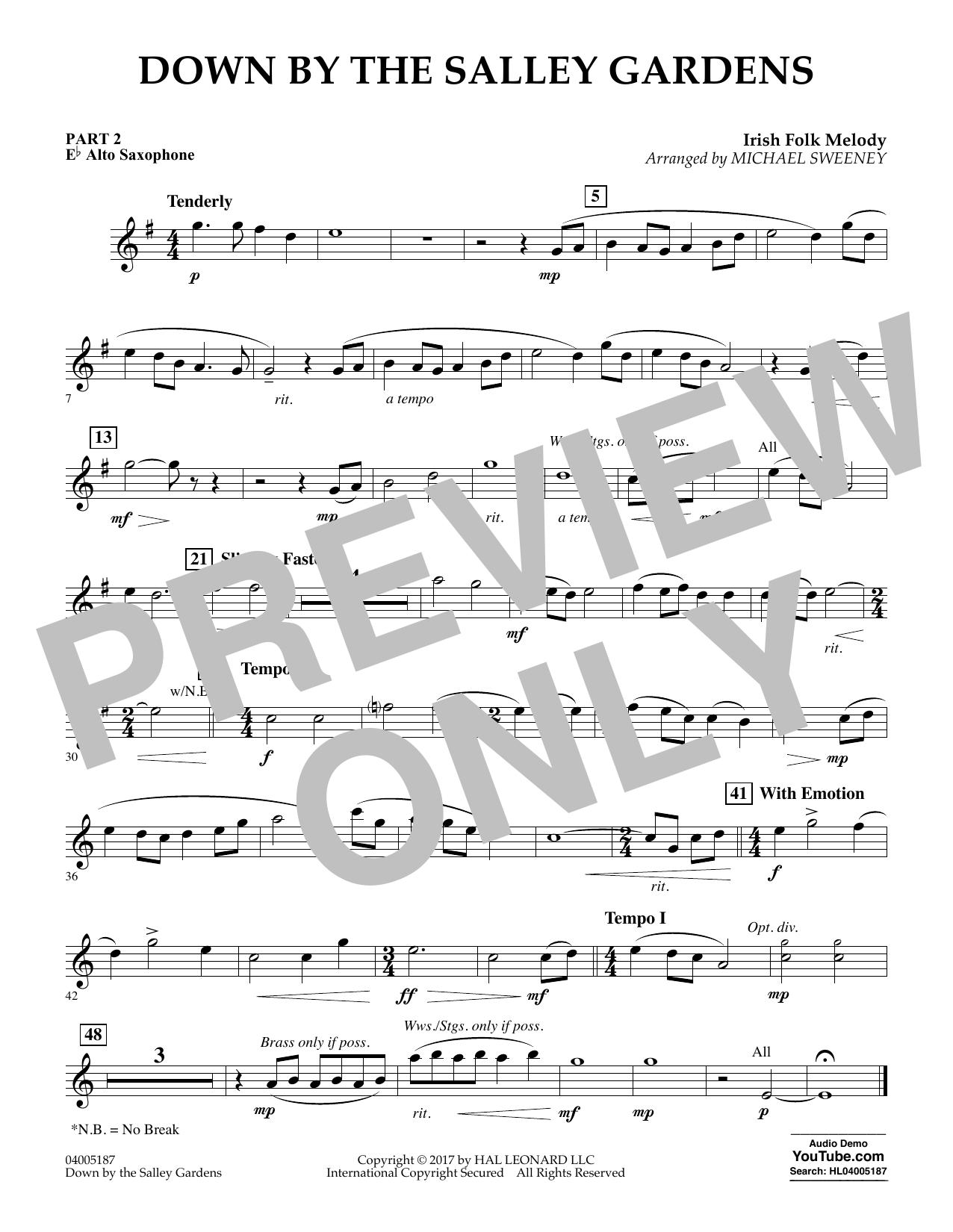 Down by the Salley Gardens - Pt.2 - Eb Alto Saxophone (Flex-Band)
