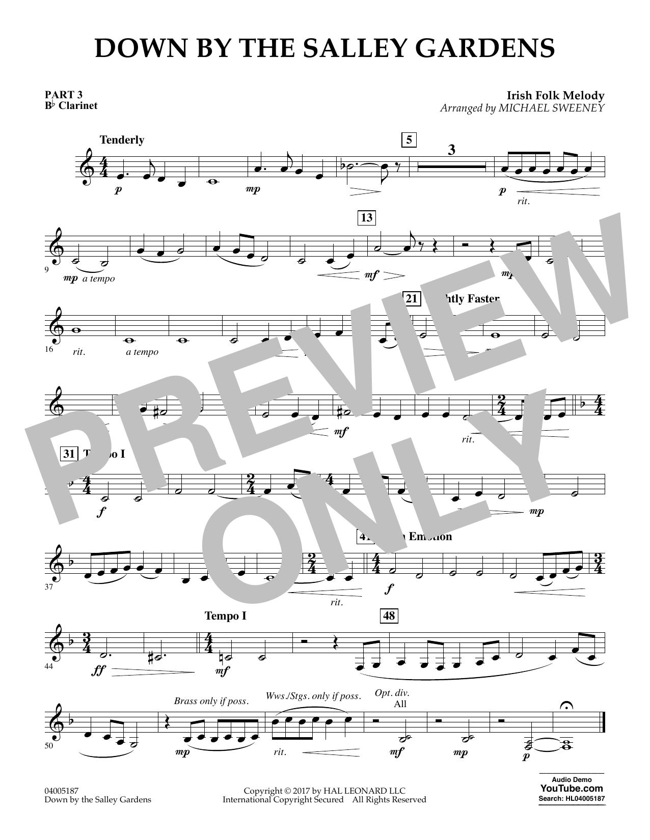 Down by the Salley Gardens - Pt.3 - Bb Clarinet (Flex-Band)