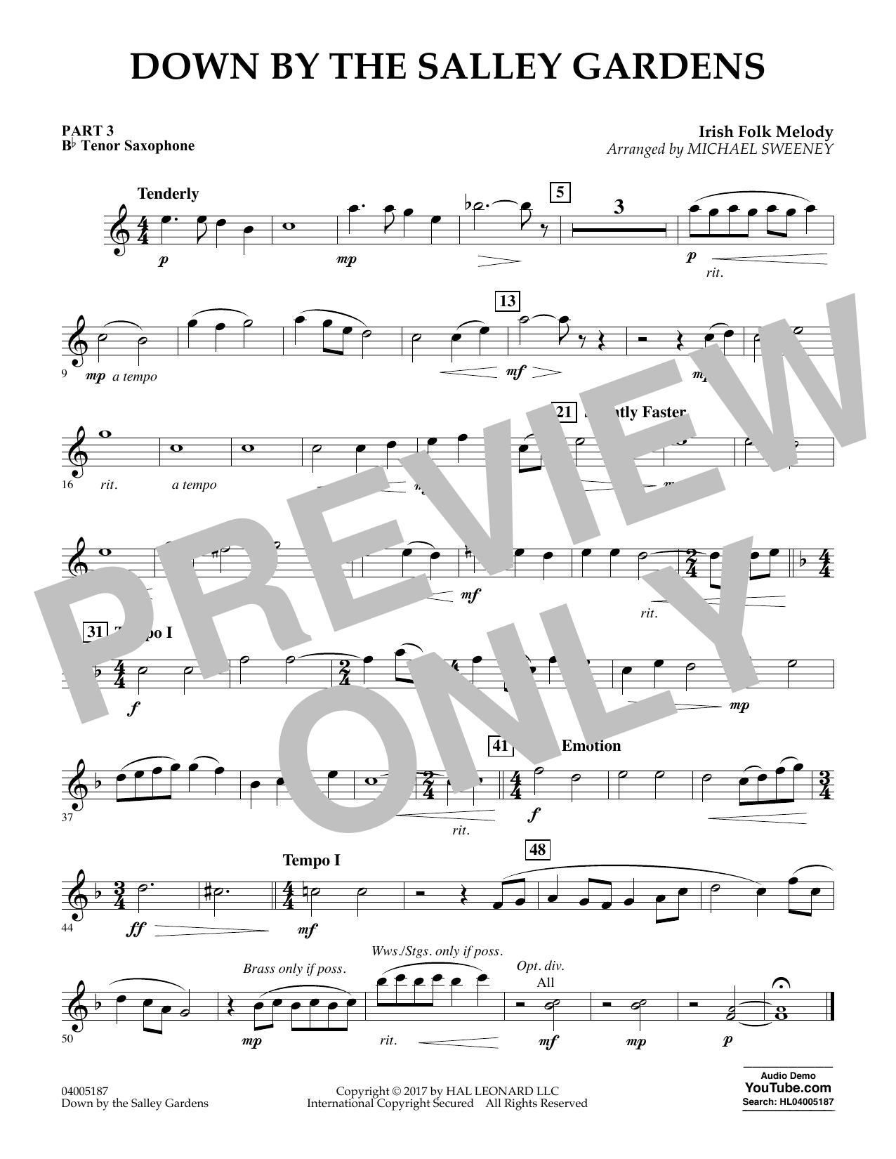 Down by the Salley Gardens - Pt.3 - Bb Tenor Saxophone (Flex-Band)