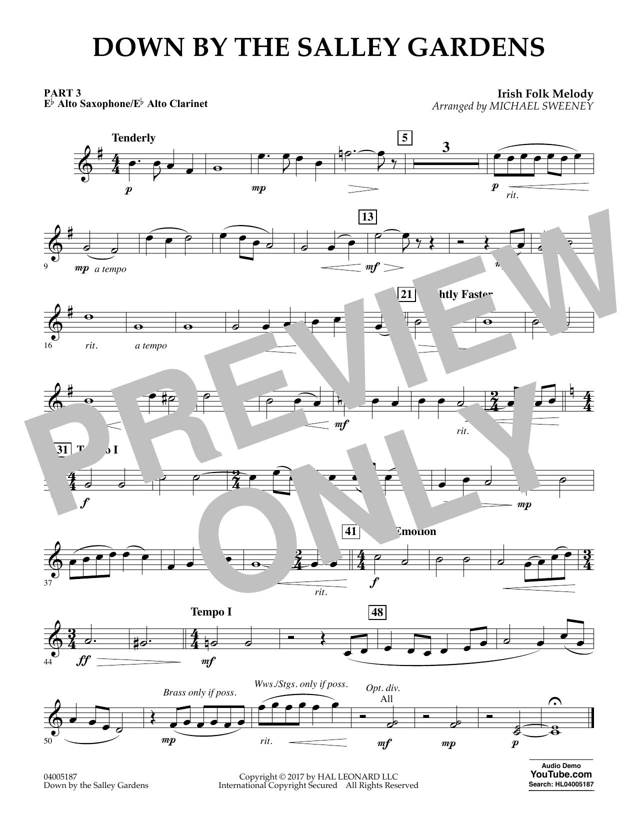 Down by the Salley Gardens - Pt.3 - Eb Alto Sax/Alto Clar. (Flex-Band)