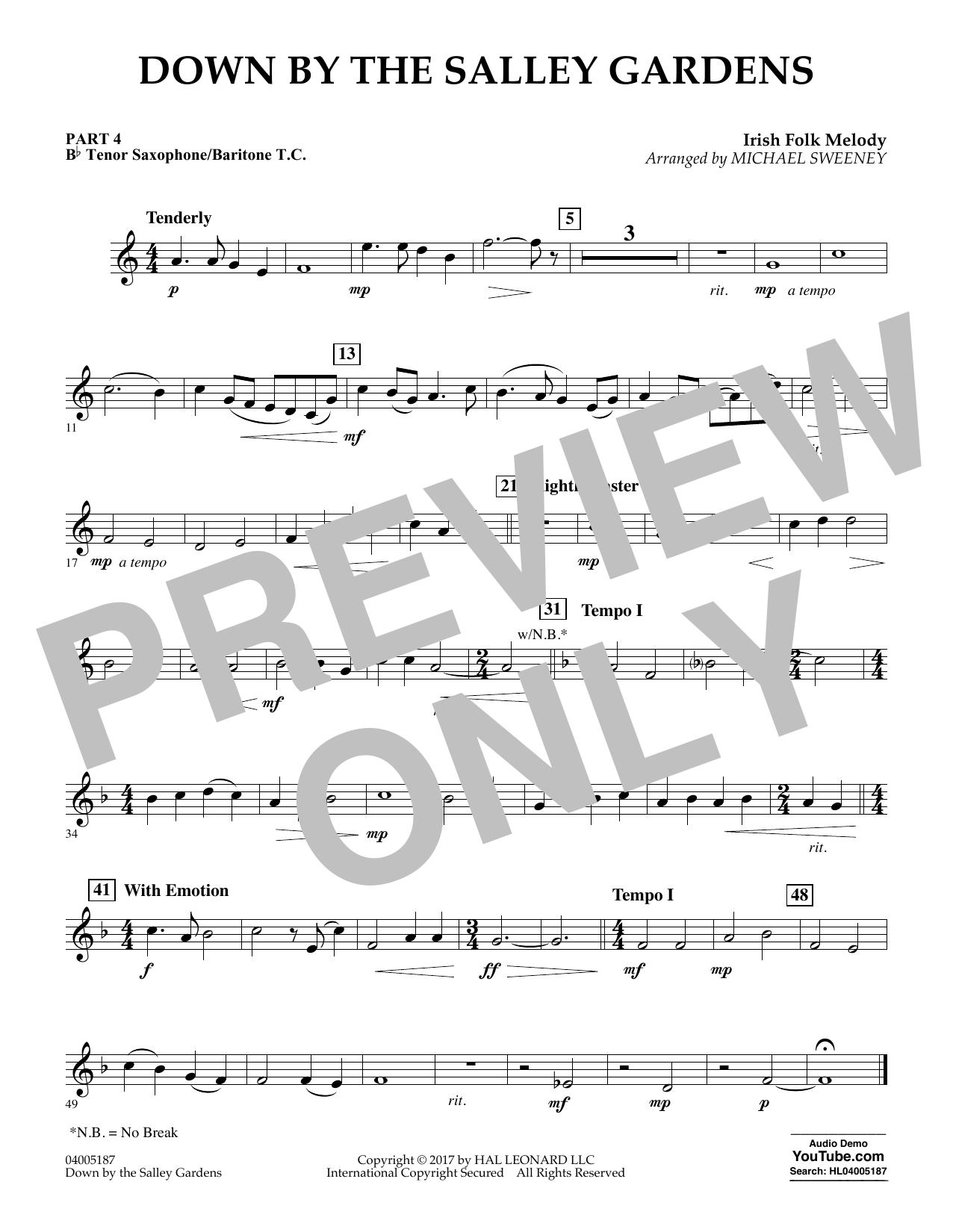 Down by the Salley Gardens - Pt.4 - Bb Tenor Sax/Bar. T.C. (Flex-Band)