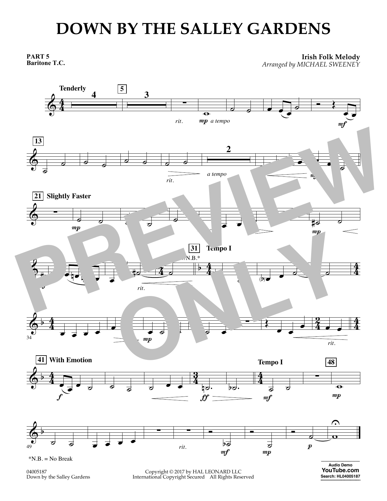 Down by the Salley Gardens - Pt.5 - Baritone T.C. (Flex-Band)