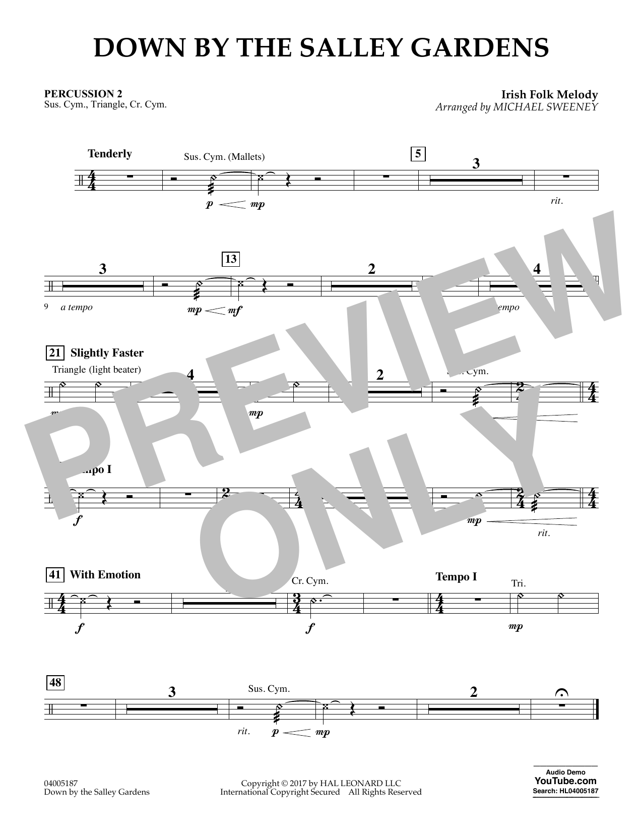 Down by the Salley Gardens - Percussion 2 (Flex-Band)