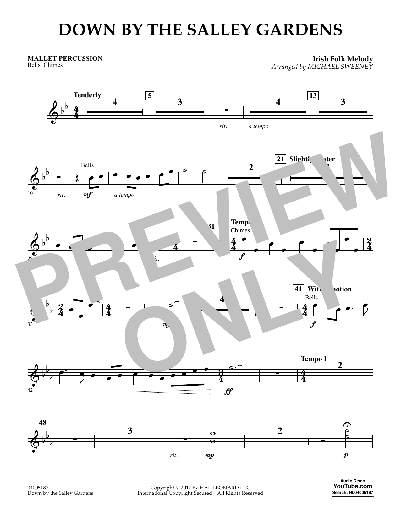 Down by the Salley Gardens - Mallet Percussion (Flex-Band)