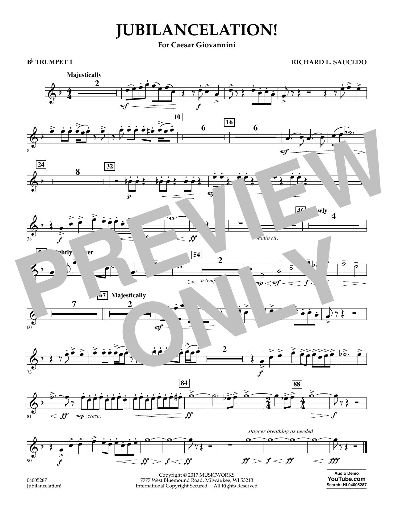 Jubilancelation! - Bb Trumpet 1 (Concert Band)