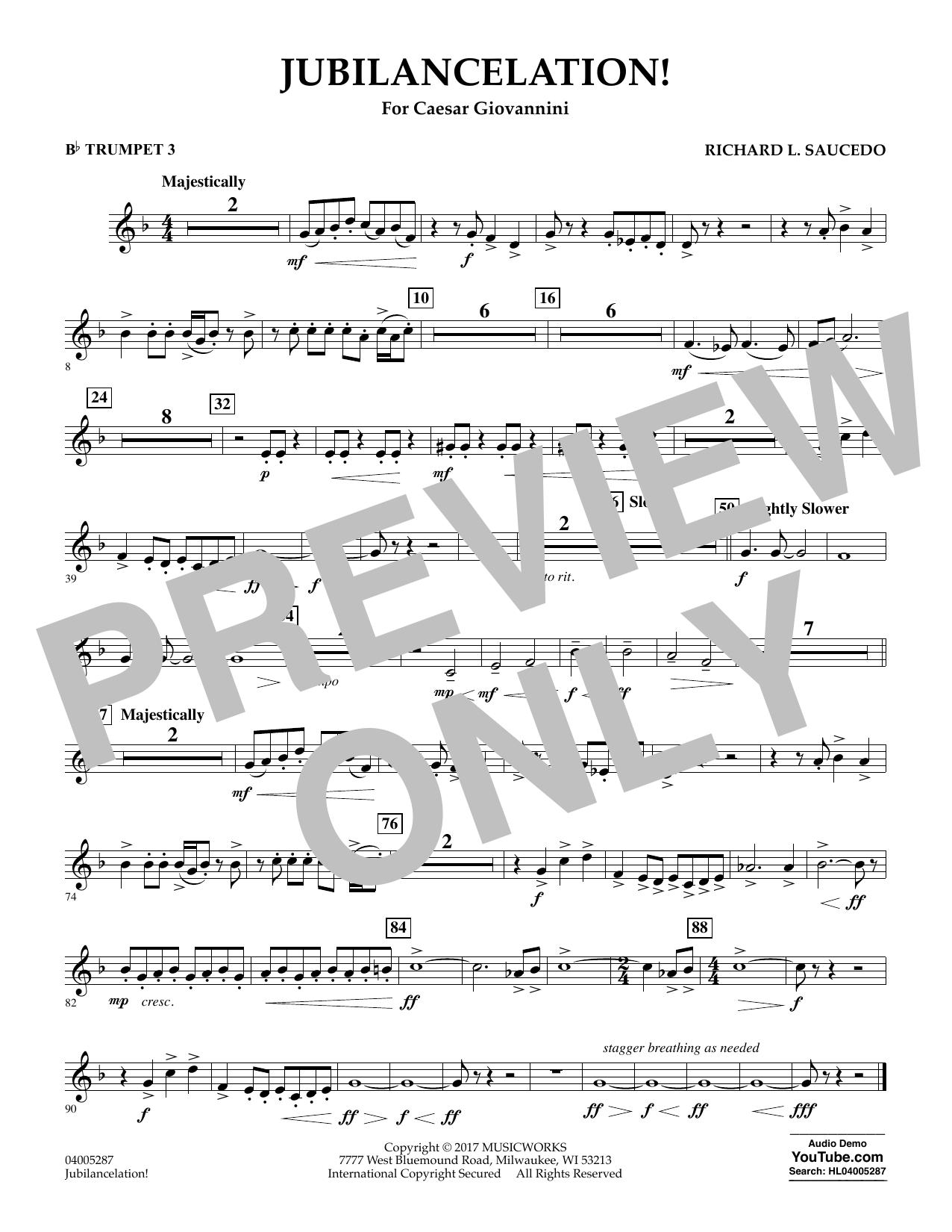 Jubilancelation! - Bb Trumpet 3 (Concert Band)
