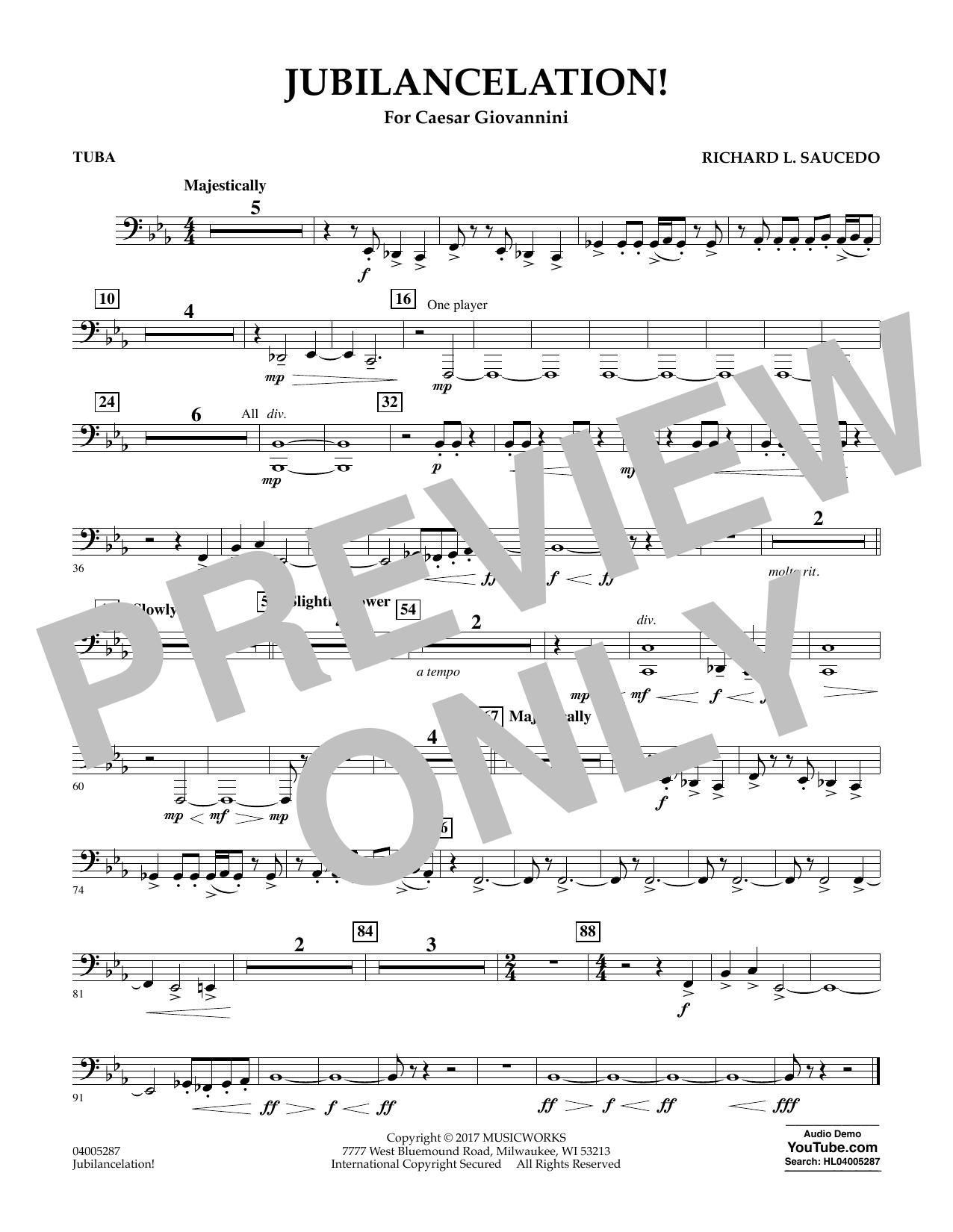 Jubilancelation! - Tuba (Concert Band)