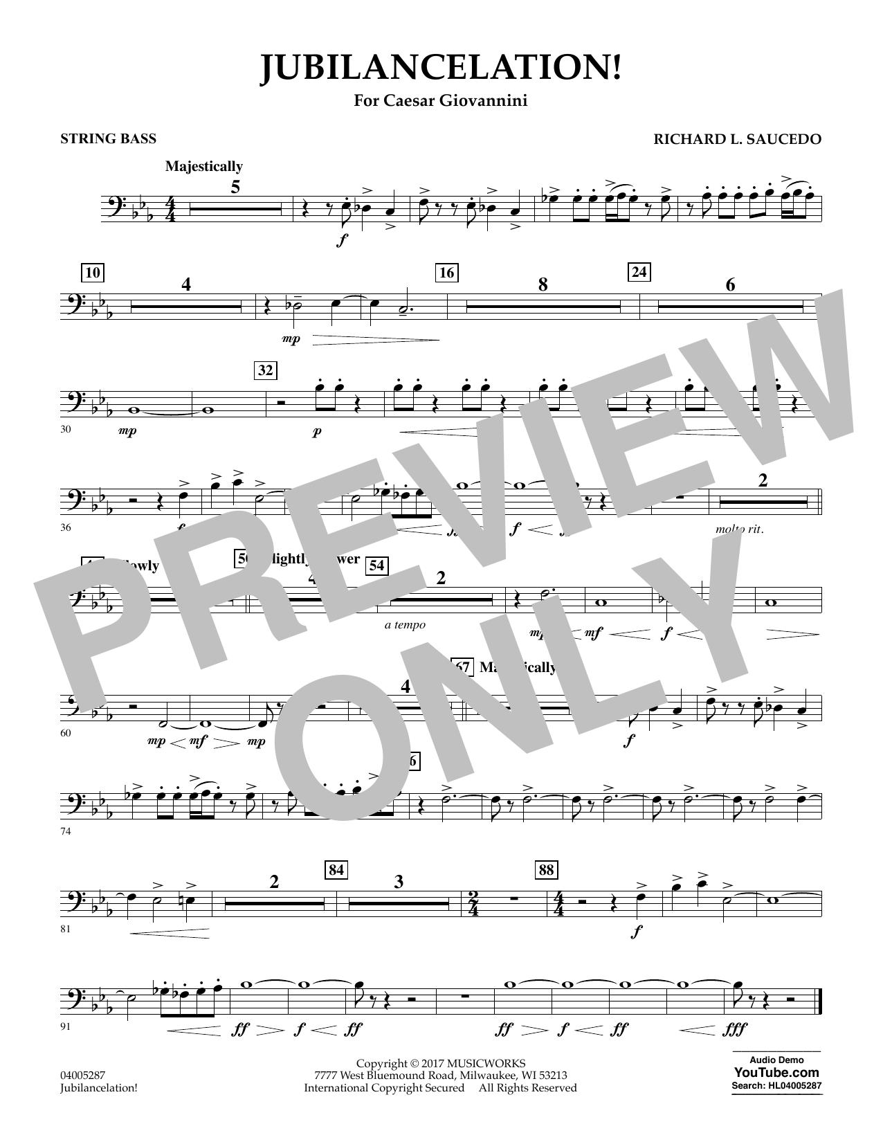 Jubilancelation! - String Bass (Concert Band)