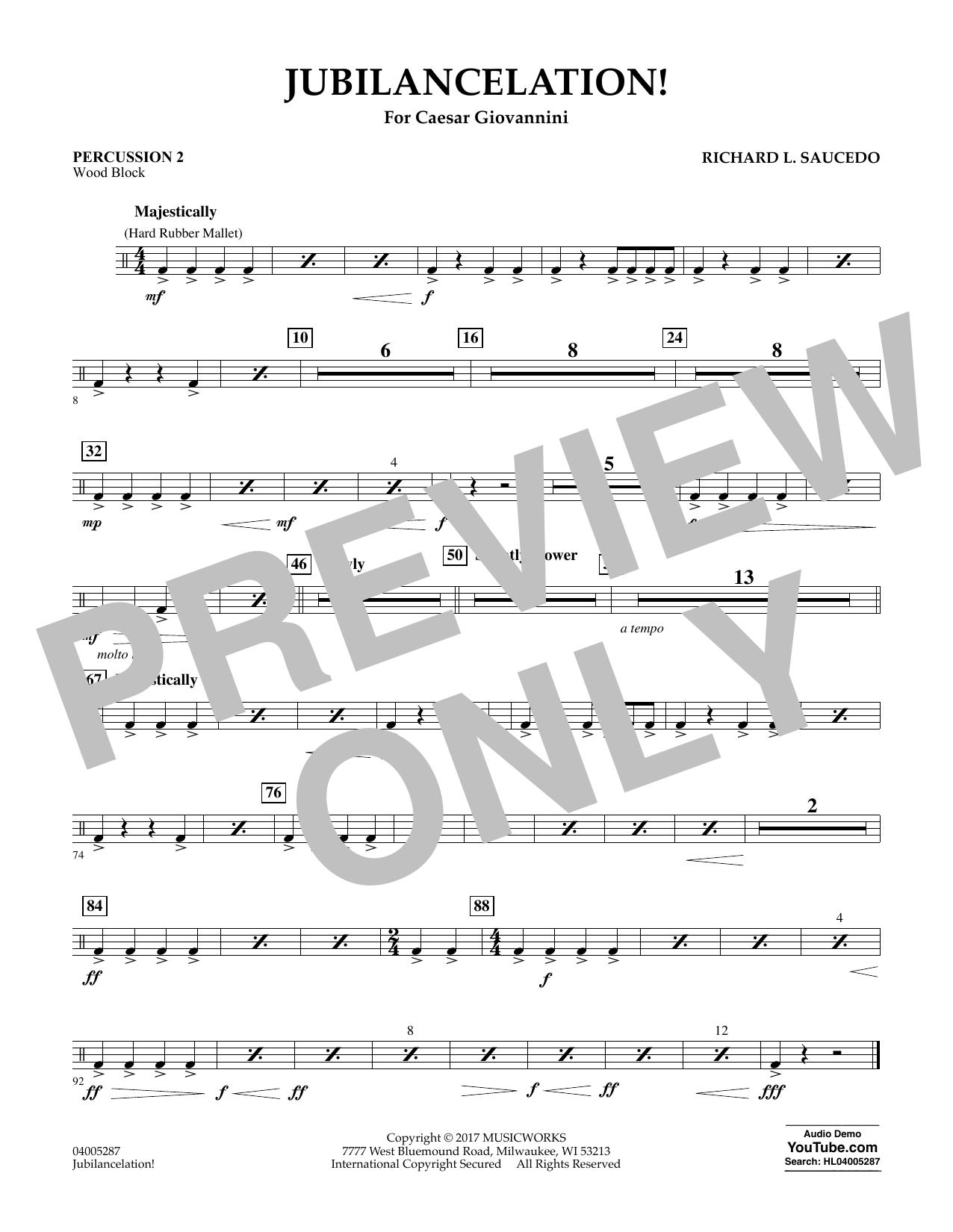 Jubilancelation! - Percussion 2 (Concert Band)