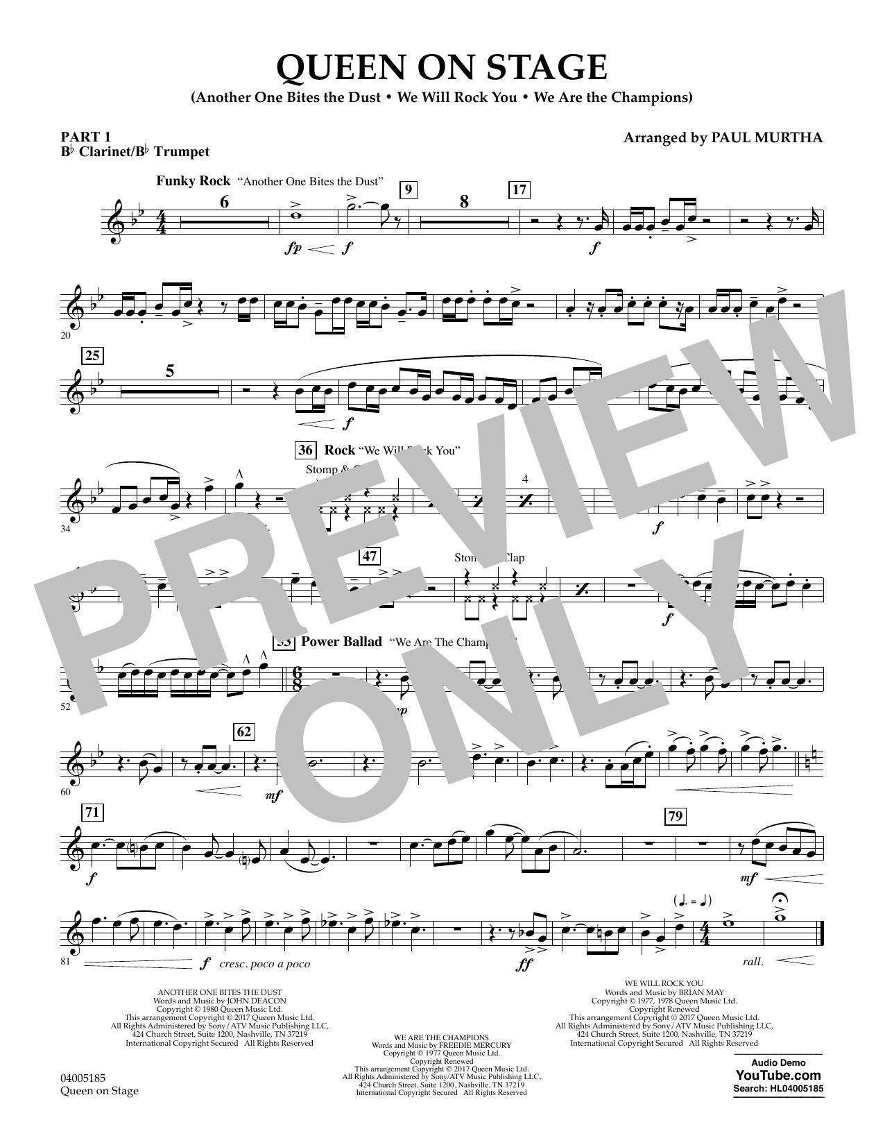 Queen On Stage - Pt.1 - Bb Clarinet/Bb Trumpet (Concert Band: Flex-Band)