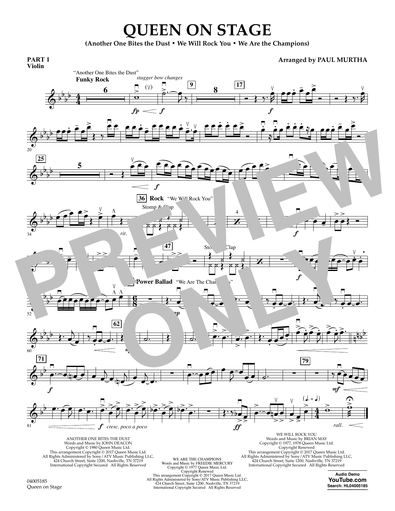 Queen On Stage - Pt.1 - Violin (Flex-Band)