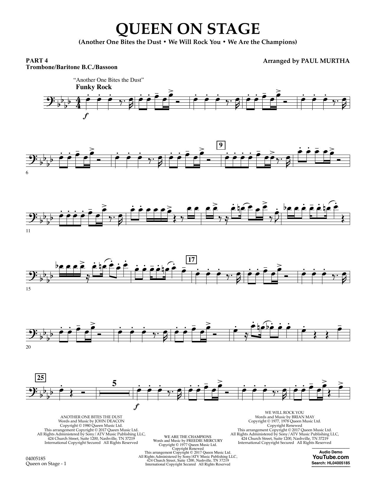 Queen On Stage - Pt.4 - Trombone/Bar. B.C./Bsn. (Concert Band: Flex-Band)