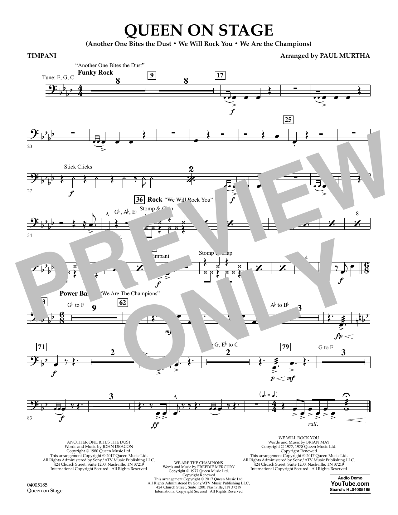 Queen On Stage - Timpani (Flex-Band)