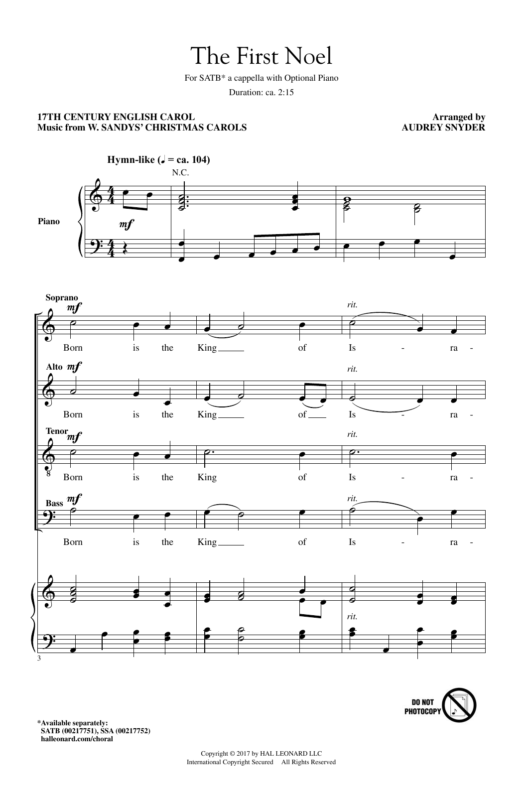 The First Noel (SATB Choir)