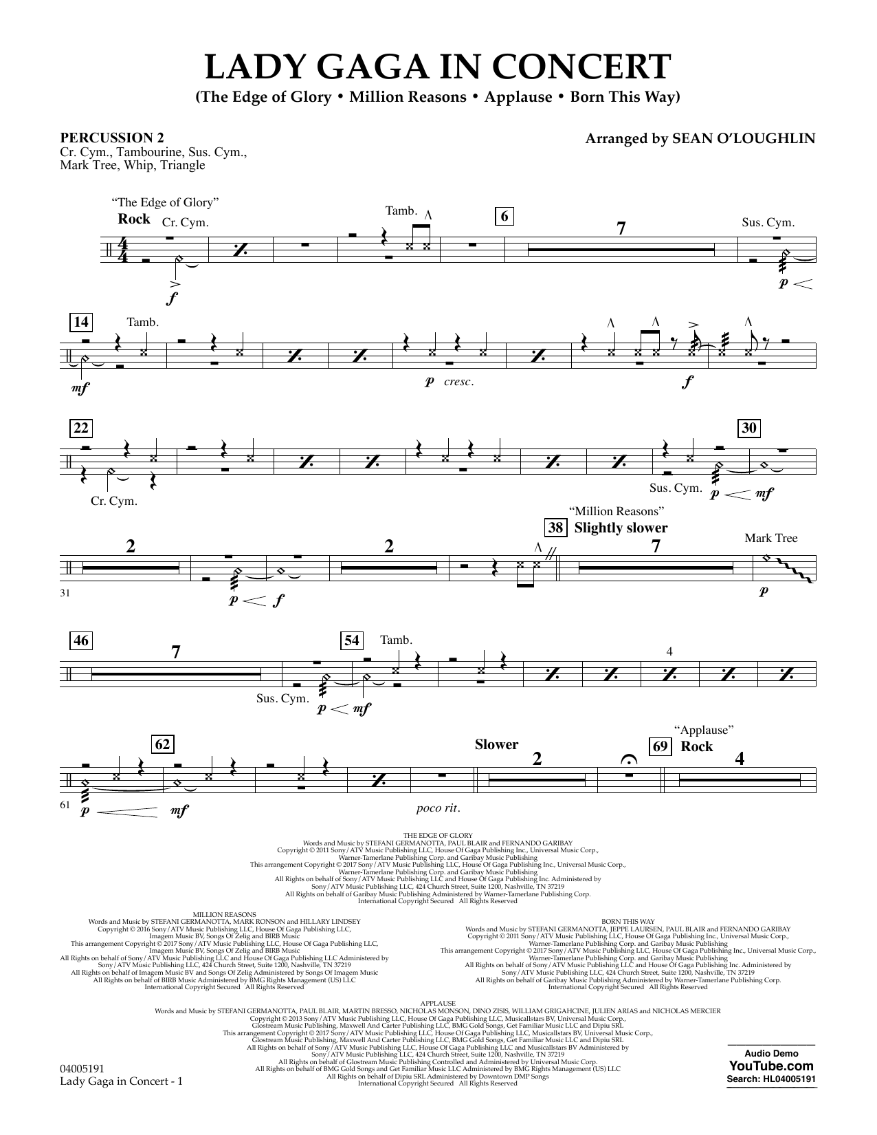 Lady Gaga in Concert - Percussion 2 (Concert Band)