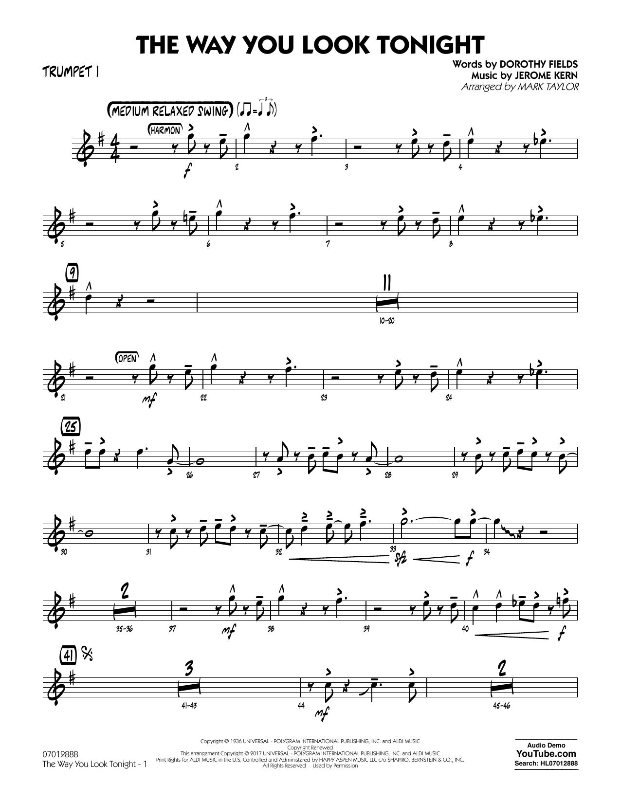 The Way You Look Tonight - Trumpet 1 (Jazz Ensemble)