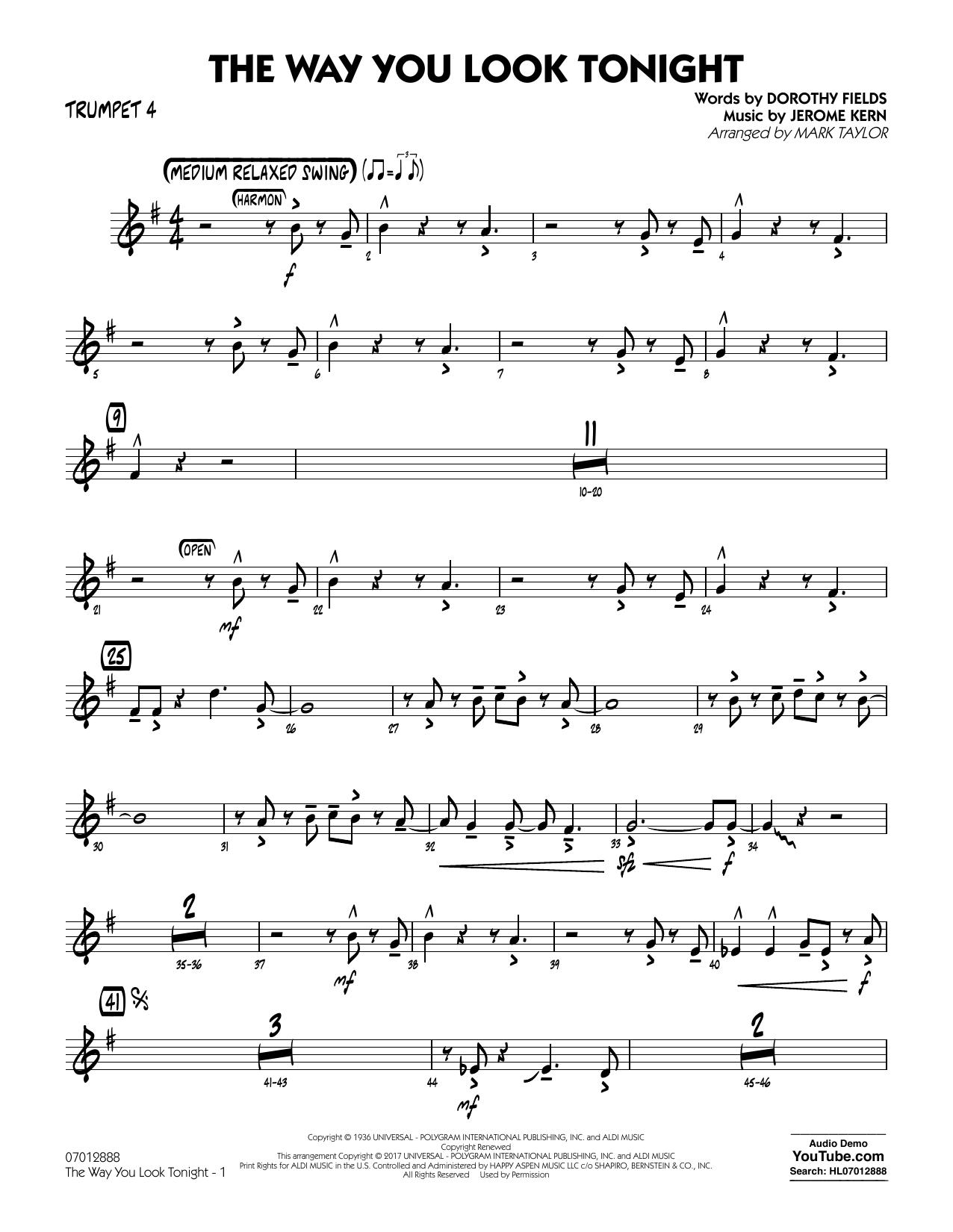 The Way You Look Tonight - Trumpet 4 (Jazz Ensemble)