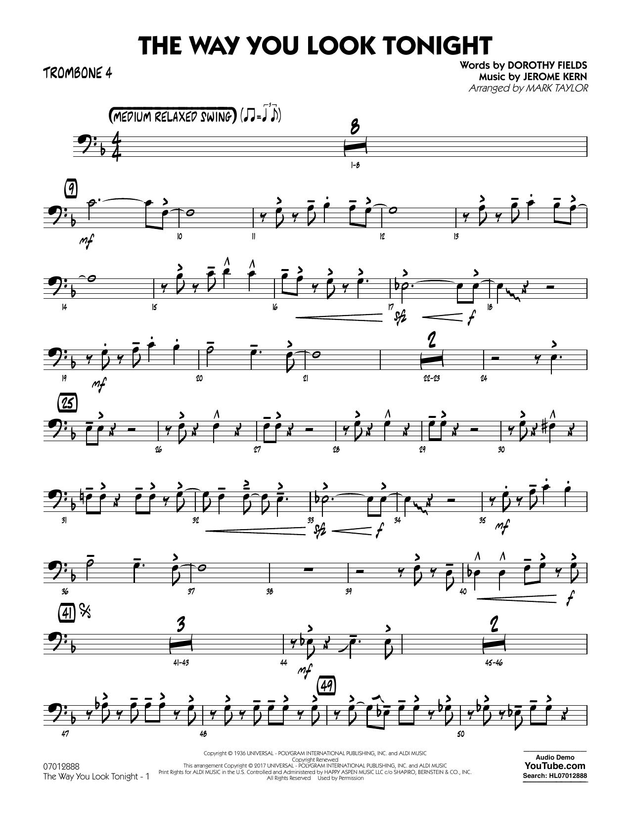 The Way You Look Tonight - Trombone 4 (Jazz Ensemble)