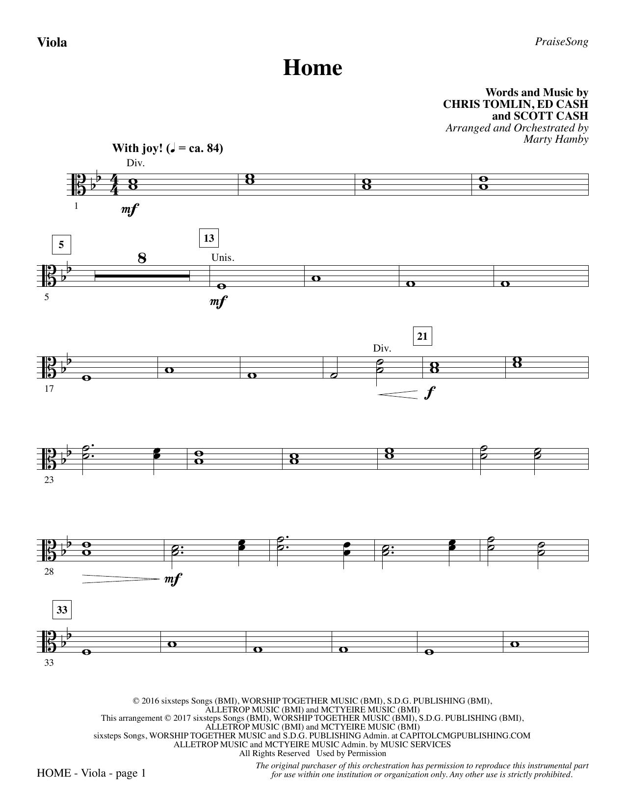 Home - Viola (Choir Instrumental Pak)