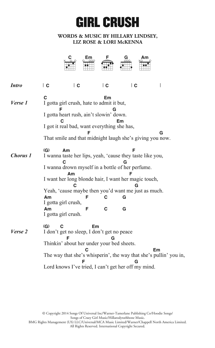 Girl Crush by Little Big Town - Guitar Chords/Lyrics - Guitar Instructor