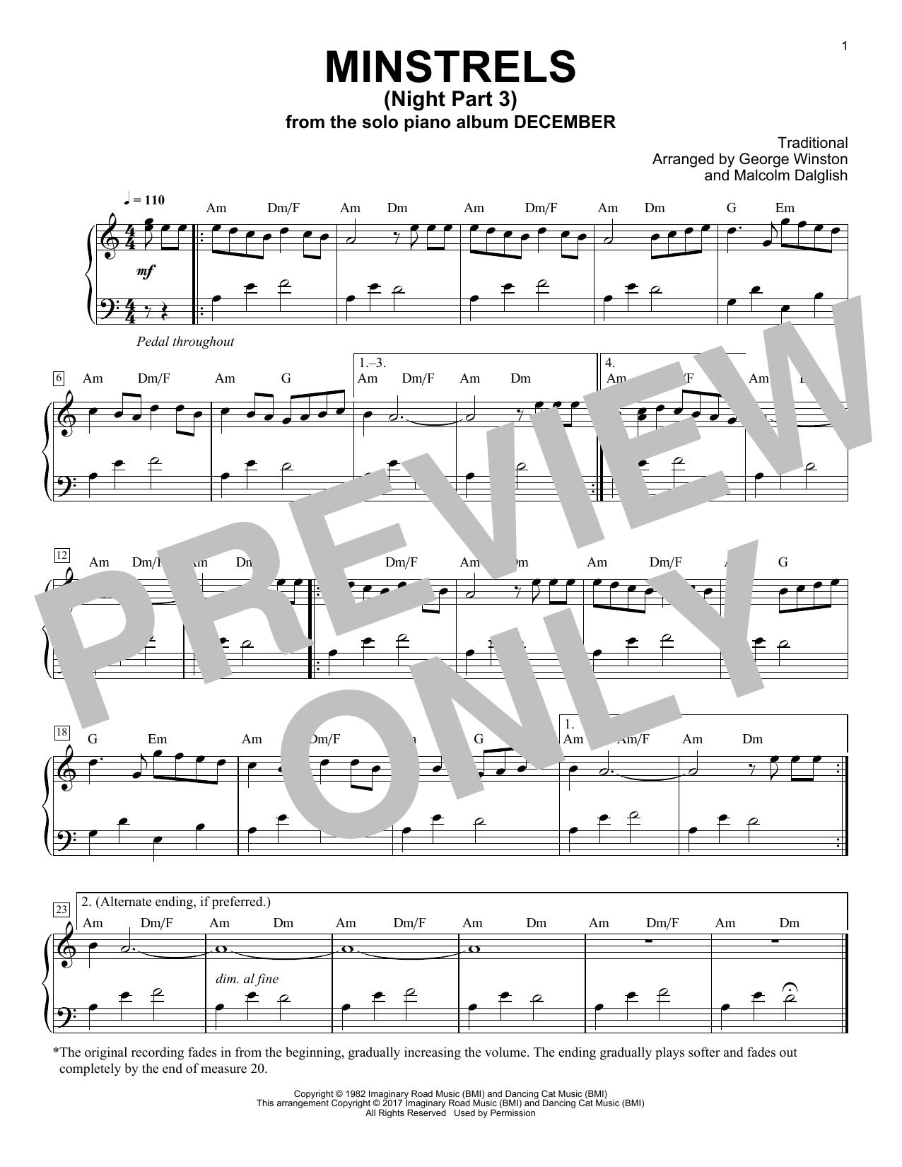 Minstrels (Night Part 3) (Piano Solo)