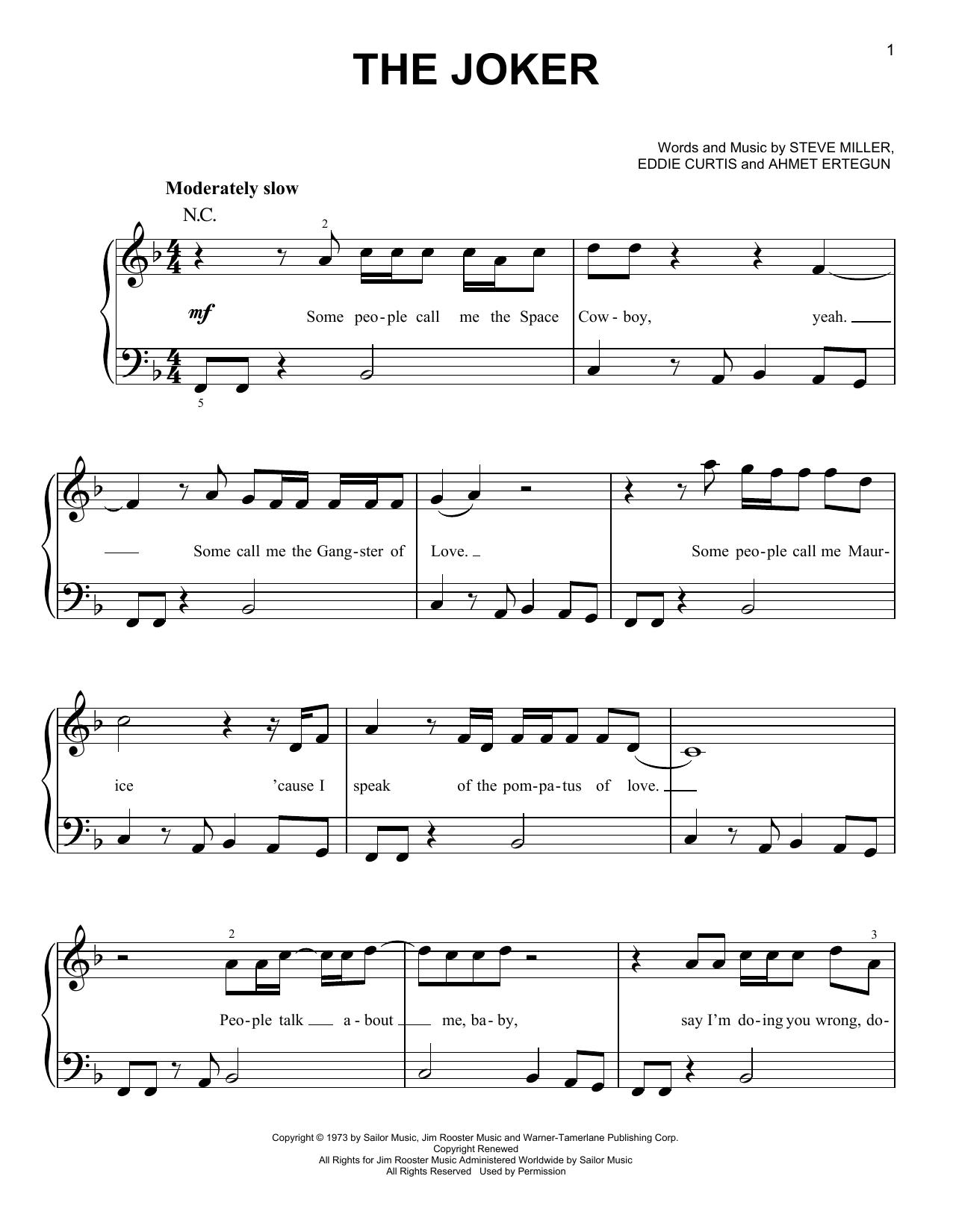 The Joker (Easy Piano)