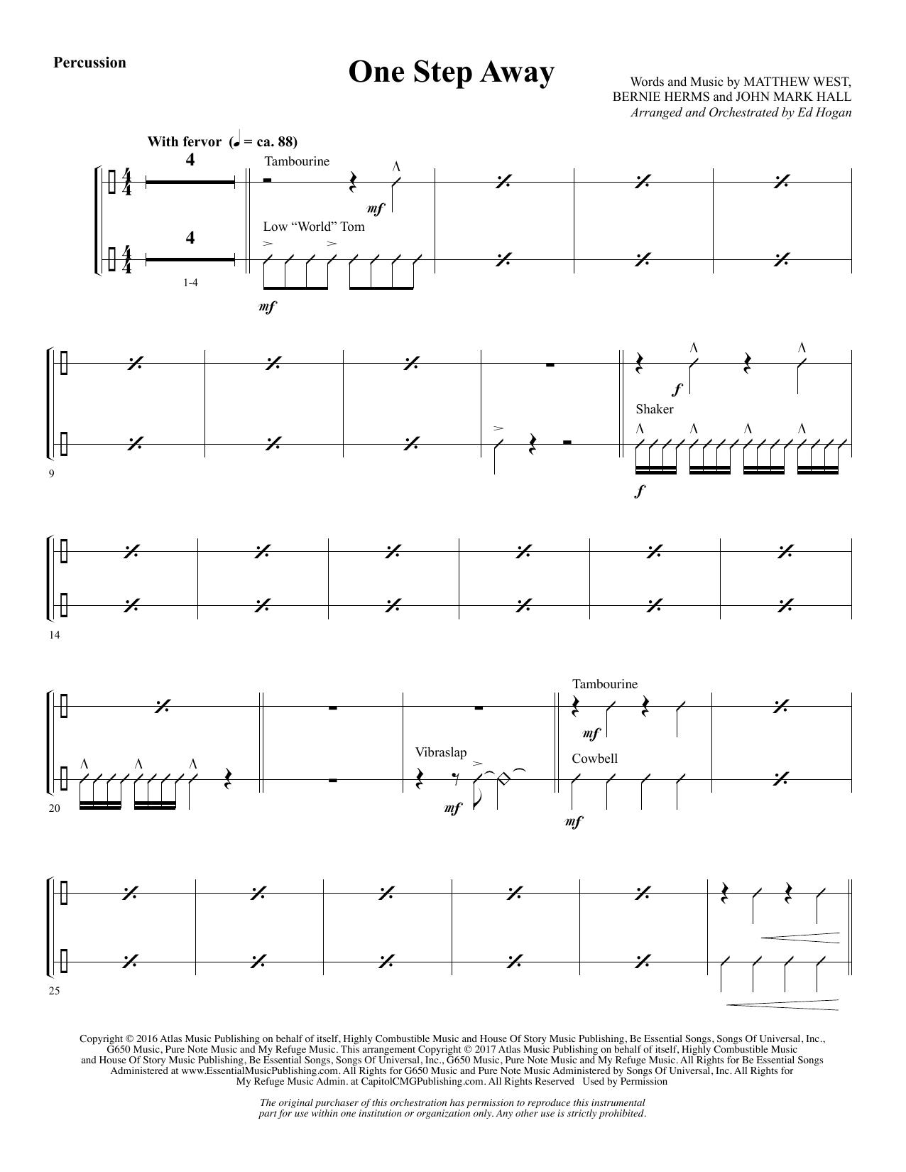 One Step Away - Percussion (Choir Instrumental Pak)