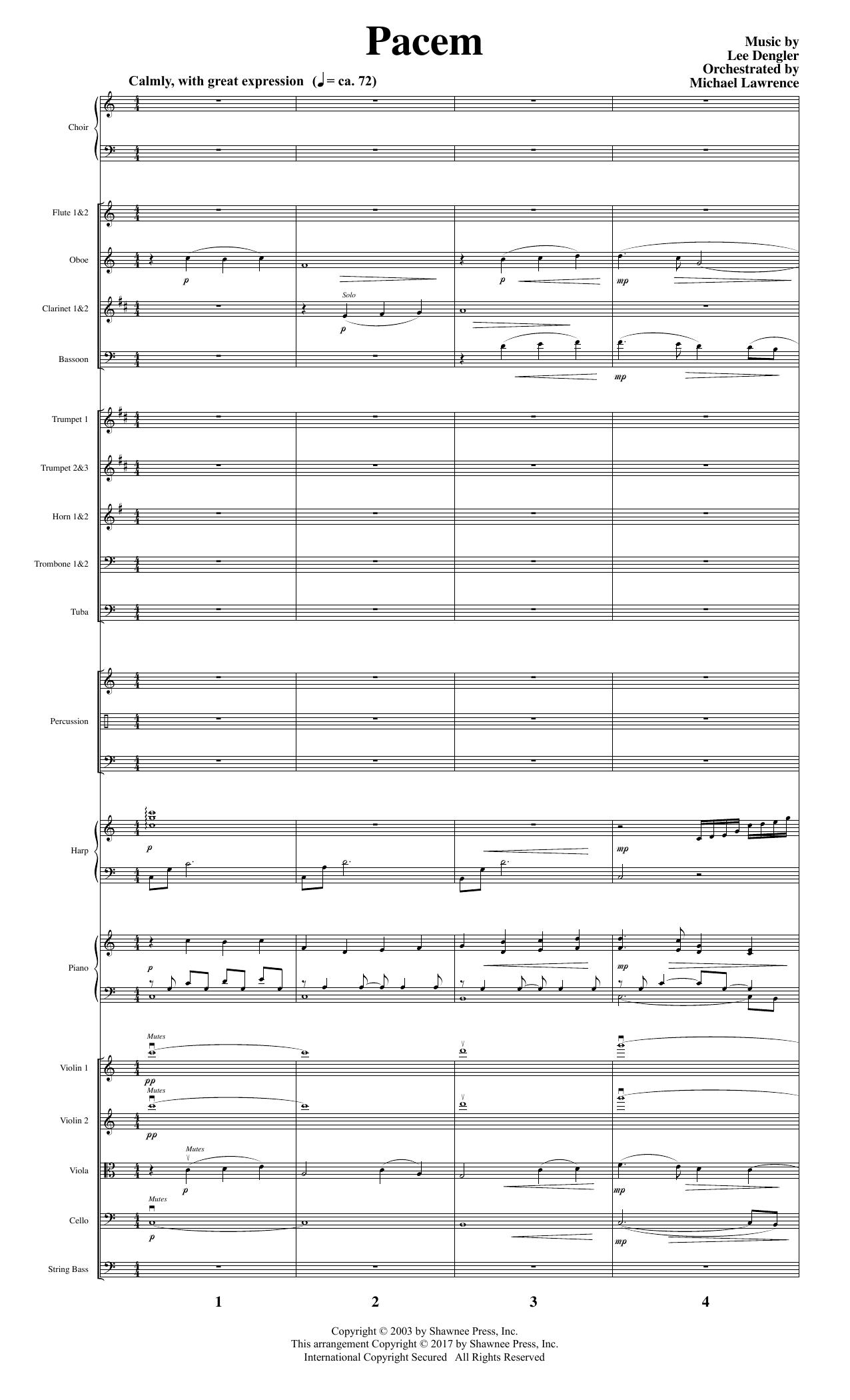 Pacem - Score Partition Digitale