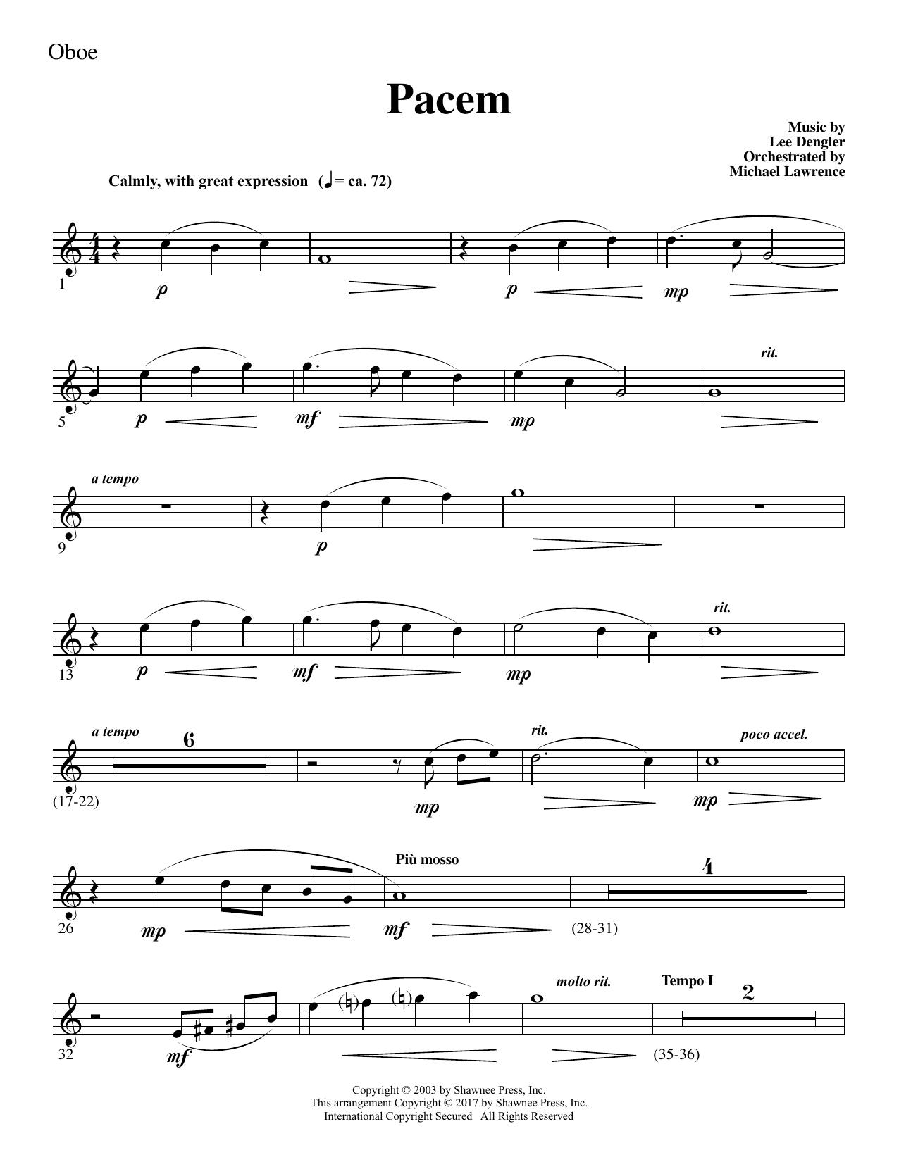 Pacem - Oboe Sheet Music